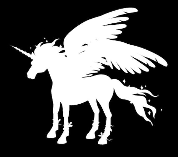 259 pegasus unicorn silhouette die cut vinyl decal 3
