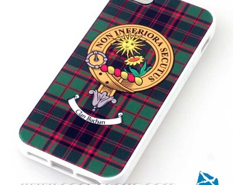 Clan Crest and Tartan  iPhone 5/5s Case - White