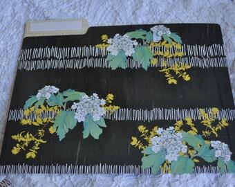 Flower, chalkboard type File Folder.   Junk journal, journal cover.