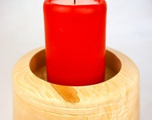 Hand-turned Candle holder, Candle stand, decorative bowl, wooden gift, hardwood bowl, ornamental bowl, decorative stand