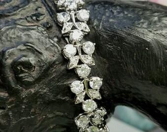 Crystal Bracelet, Bridal Bracelet, Rhinestone Wedding Bracelet, Crystal Wedding Accessories, Bridesmaid Gift Bracelet, Vintage Inspired