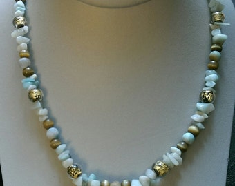 Pastel Chip Bead Necklace