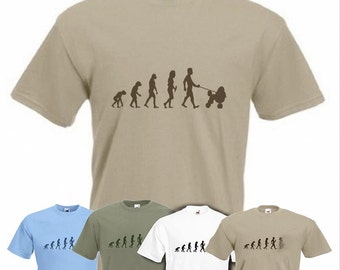 Evolution To Poodle t-shirt Funny Dog T-shirt in sizes Sm to 2XXL