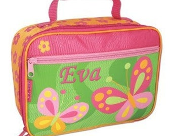 Personalised Children's Lunch Boxes - Orange Butterfly