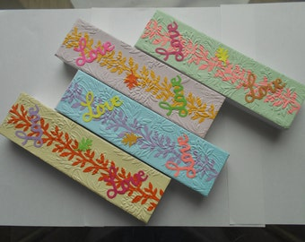 Gift Boxes/Bracelet Gift Boxes/Set of 4 Decorated Gift Boxes/Embossed Gift Boxes/Bridesmaid Gift Boxes/Lovely Gift Boxes/Pretty Gift Boxes