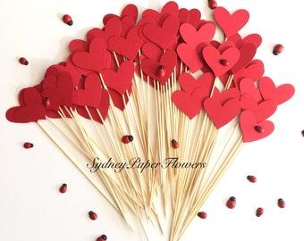 100 hearts for aisle decor / Aisle decor/ Beach wedding /Garden wedding /Party decoration