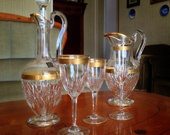 Tivoli by St. Louis-full service Crystal glasses for 12