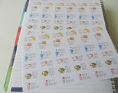 Healthy Eating - set of 72 stickers perfect for Erin Condren Life Planner, Kikki K or Filofax Planner
