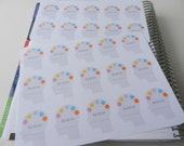 Migraine Tracker - set of 25 stickers perfect for Erin Condren Life Planner, Kikki K or Filofax Planner