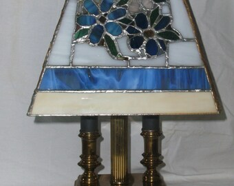 Vintage Stained Glass Lamp