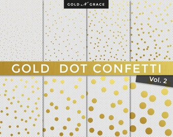 Gold Foil Confetti Overlays, Gold Scrapbook Paper, Gold Paper, Gold Glitter, Gold Confetti, Transparent Gold Backgrounds, Gold Dots Overlay