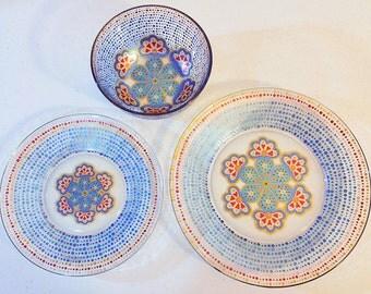 Mandala Art, Mandala Home Decor, Mandala Dinnerware, Mandala Gift, Mandala Plate, Mandala Bowl, Mandalas, Wedding Mandala, Mandala Decor