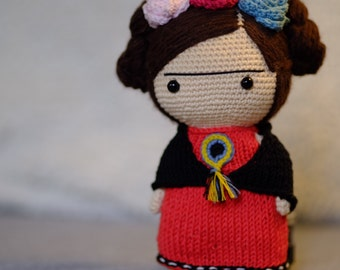 Frida Kahlo doll crochet