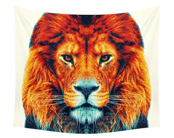 Lion Tapestry - Colorful Animals
