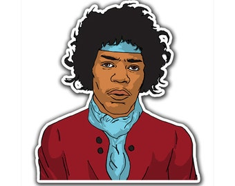 Jimi Hendrix Sticker - Child of Voodoo