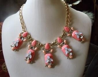 Ibiza jewelry statement ethnic pink/off-white