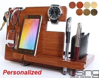 FATHERS DAY  Gift--Docking station, Charging Station For iPhone 5, iPhone 6, Mobile, Wallet, Pencils,
