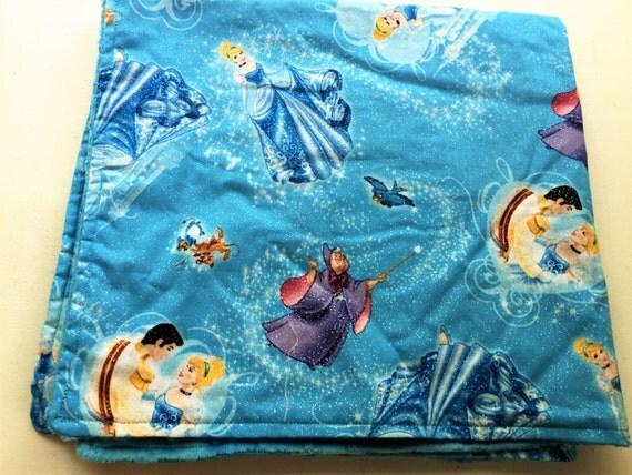 "Cinderella Baby Blanket/Crinkle Toy Pacifier Blanket Holder Authentic  Minky 27"" x 27"" Crinkle Paci 9x9"