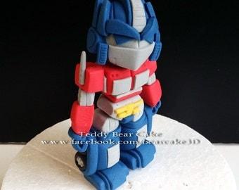 Transformers - Optimus Prime Fondant Cake Topper
