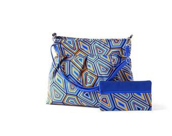 Hobo Crossbody Bag - Cross Body Diaper Bag - Summer Messenger Bag - Bright Bag - Beach Messenger Bag - Statement Bag - Everyday Carry Bag