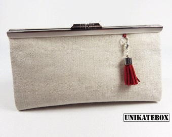 Ironing bag metal clutch make-up bag