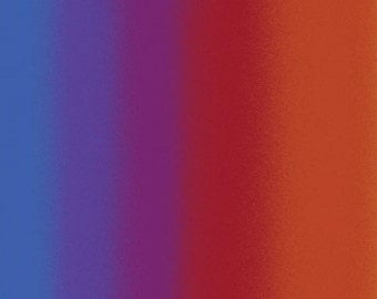 Ombre Rainbow Fabric from the Essentials Gradations Collection for Benartex  - Listed by the Half Yard