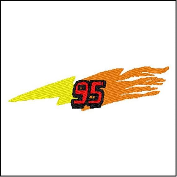 Cars Lightning McQueen 95 Bolt Embroidery Design