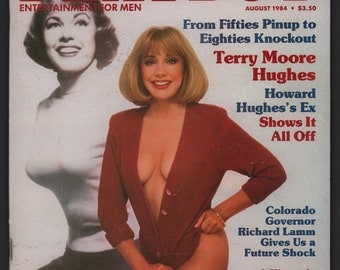 Mature Vintage Playboy Magazine Mens Girlie Pinup Magazine : August 1984 Ex+ White Pages Intact Centerfold