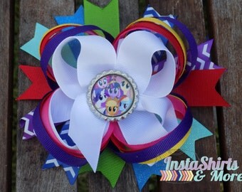 Little Pony Layered Bow on Alligator Clip TWO styles