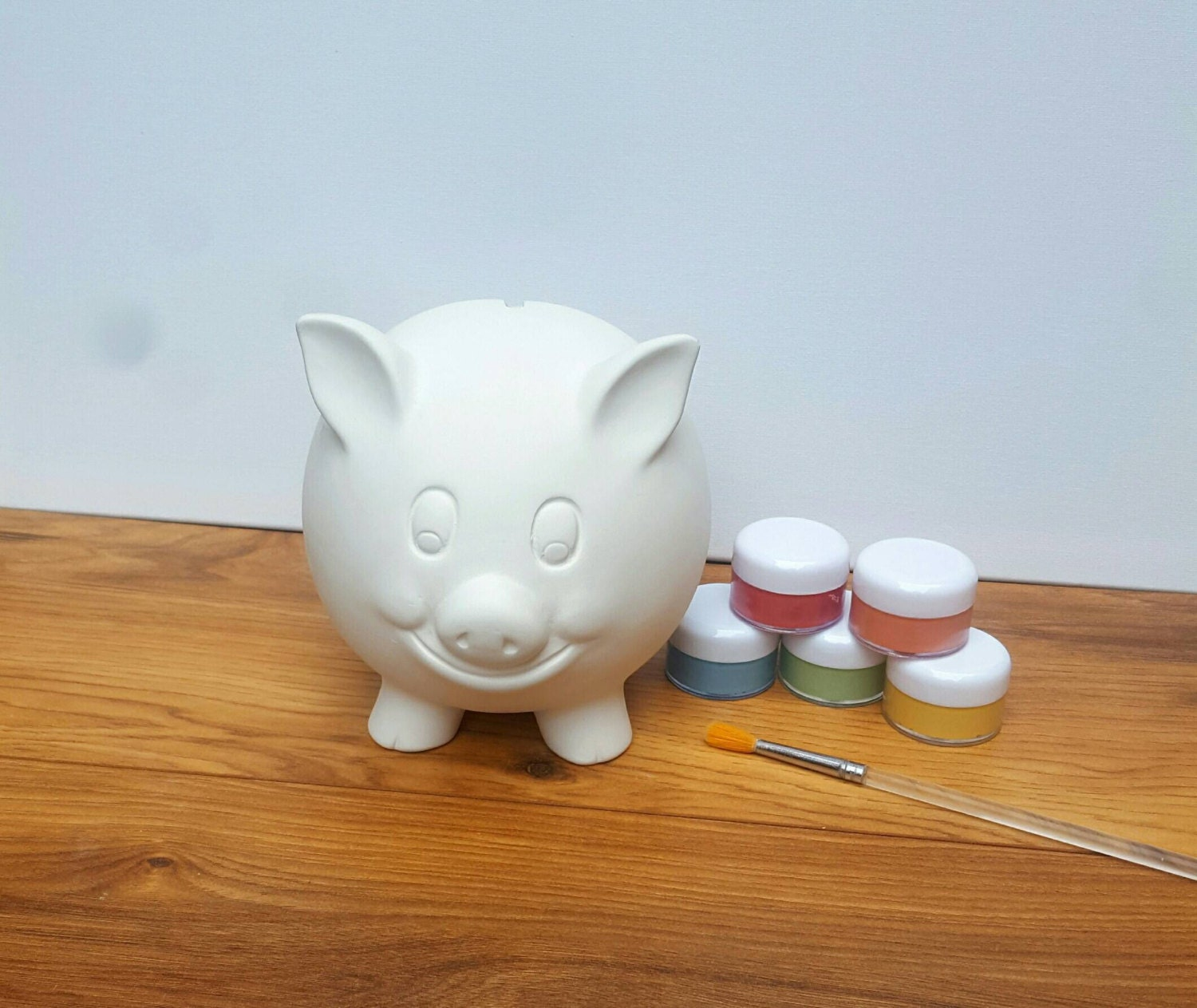 Custom piggy bank hand painted personalised money bank ceramic for Create your own piggy bank