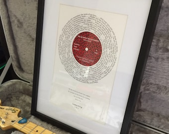 First dance lyric record