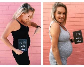 Pregnancy Milestone Week Cards - Record you pregnancy growth