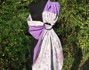 Baby Sling / Baby Ring Sling / Baby Wrap Carrier / FAST SHIPPING - 100% Super Cotton - Purple White Pink