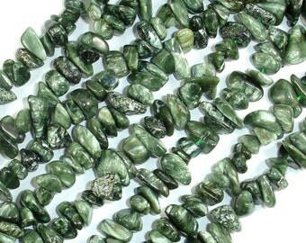 Seraphinite Beads, Approx 5mm-10mm Chips Beads, 15 Inch, Full strand, Hole 0.8mm (400005001)