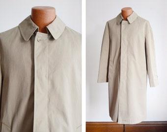 "1970s/1980s Khaki Trench Coat - 46"" Chest"