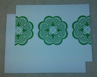 Three Green Elephant
