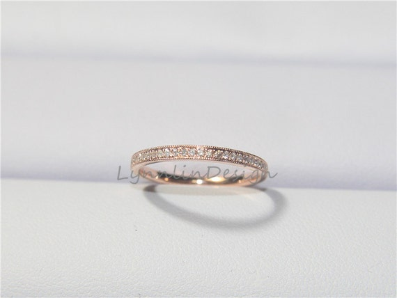 Simple Diamond Band Wedding Ring Anniversary Band Petite