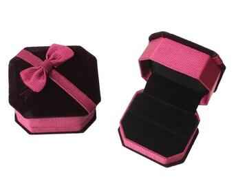 1 Velvet Ring Box, Wine Red Ring Box Velvet, Mrs Box, Ring Box, Velvet Jewelry Ring Gift Boxes, Jewelry Box, Wedding Ring Box, 5530