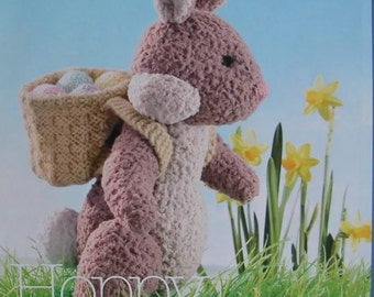 Easter Bunny ideal for carrying chocolate mini eggs Knitting Pattern