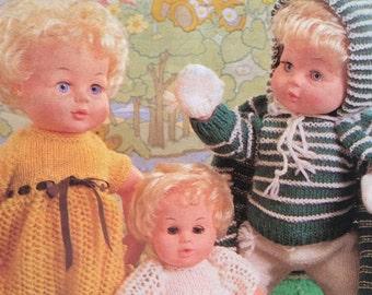 Dolls Clothes Nursery Scene  Knitting Pattern