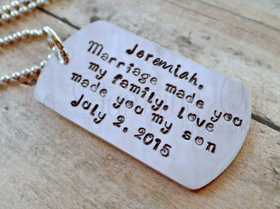 ... Step Son Wedding Gift* Step Son Gift* Step Son Necklace* Wedding Gift