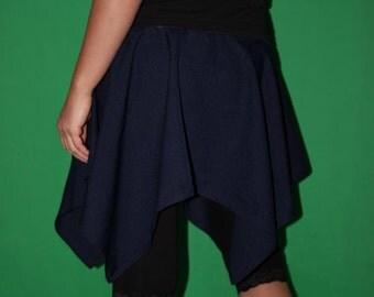 blue tip skirt mini skirt  size S