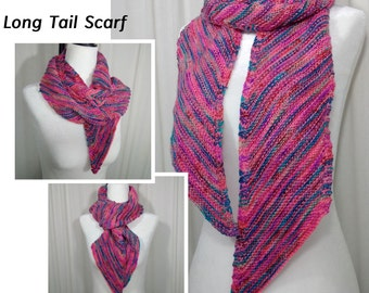 Knitting Pattern / Recipe for the Long Tail Scarf in DK & Worsted yarns
