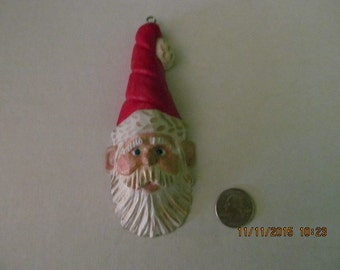 Hand Carved Santa Claus Ornament