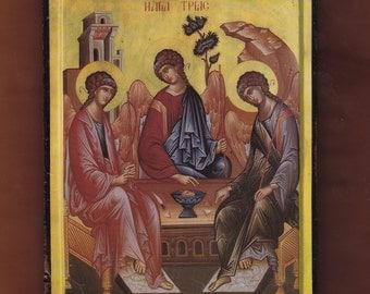 Agia Trias, Mount Athos.Christian orthodox icon. FREE SHIPPING