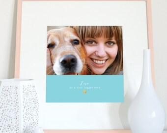 INSTANT DOWNLOAD custom pet print, personalised pet photo gift, custom pet photo name, personalised pet photo and name, pet memorial