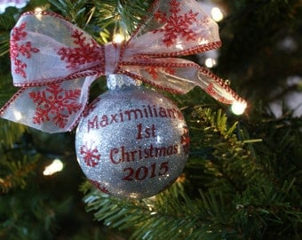 Baby 1st Christmas Personalized Ornament