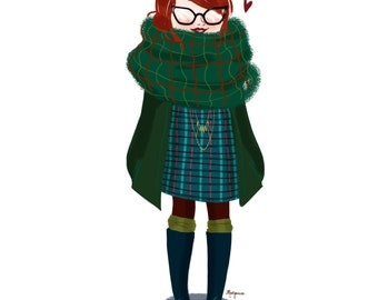 Fashionable custom illustration of your outfit