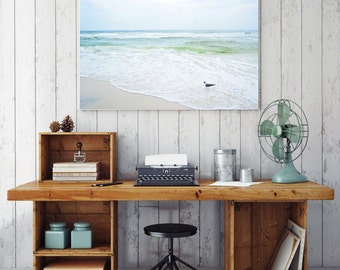Chasing Surf / Beach Photography / Beach Decor / Florida / Seagull / Beach Print