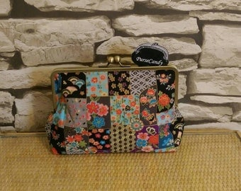 JAPAN PATCHWORK - Beautifully colourful Japan print clutch bag